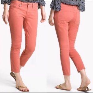 Tory Burch Alexa Cropped Skinny Jeans Pants Sz 25